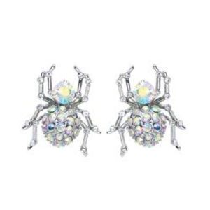 Jewelry - Crystal Spider Earrings